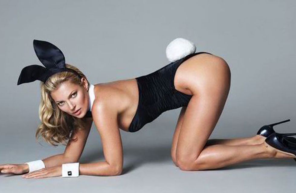 First look at Kate Moss as a Playboy bunny
