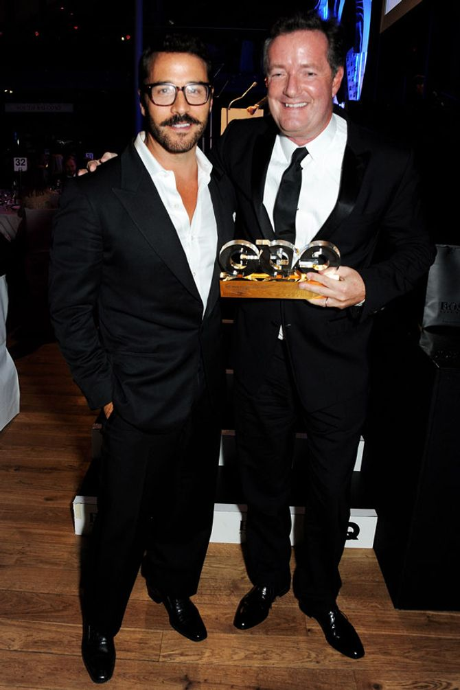 Jeremy Piven and Piers Morgan
