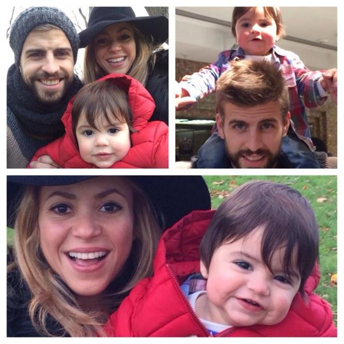 Shakira, Gerard Piqué et Milan à Londres en novembre 2013