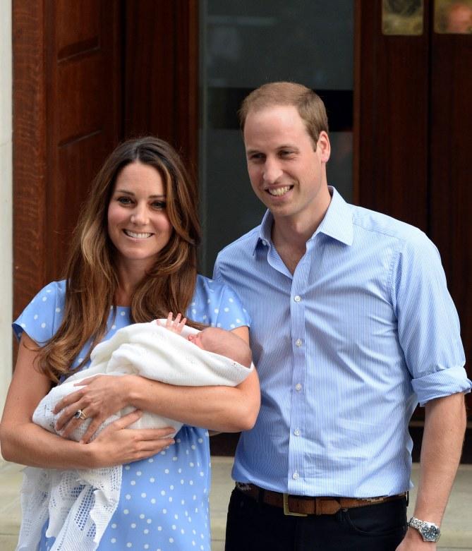 Kate Middleton et le prince William à la naissance du prince George