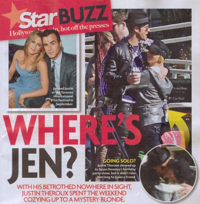 La coeprtina del giornale con la foto del bacio di Justin