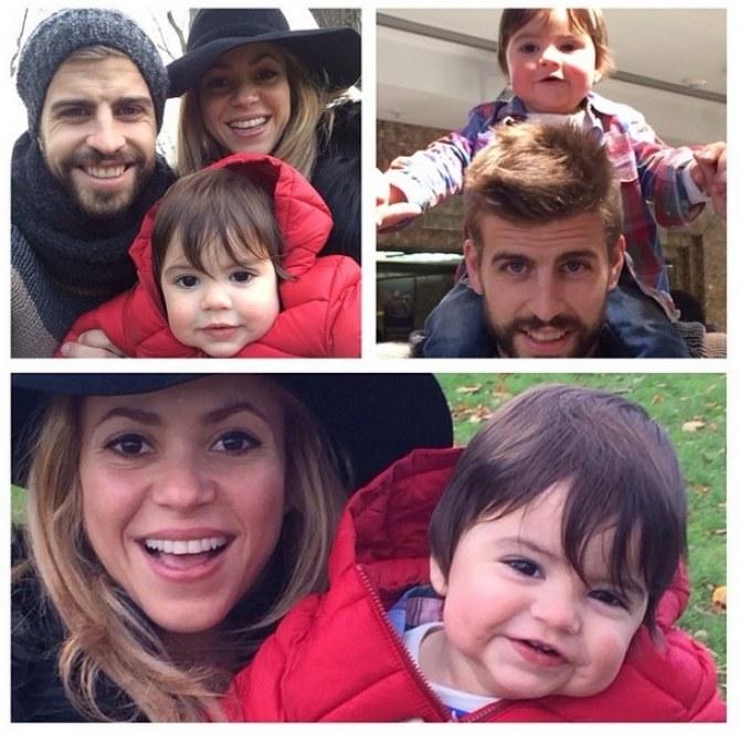 Shakira, Gerard et Milan