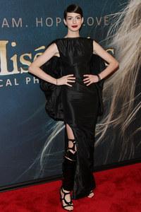 Anne Hathaway à la première des Misérables à New York en décembre 2012