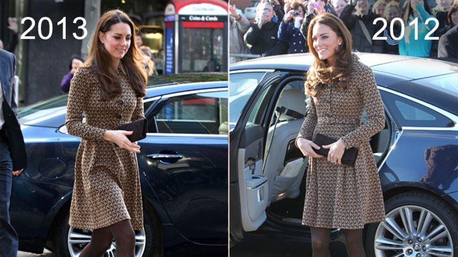 Fashion Déjà-vu? Kate trägt zweimal das gleiche Outfit!