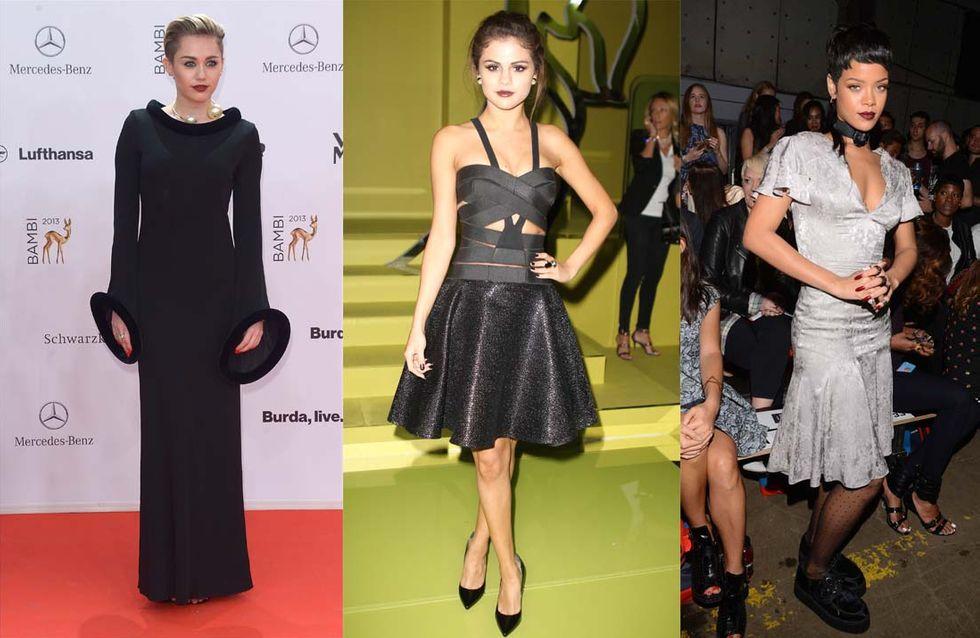 Miley Cyrus, Selena Gomez et Rihanna craquent pour la tendance gothique