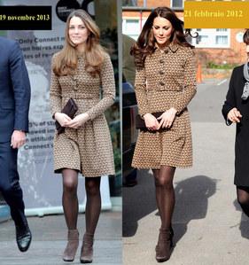 Kate Middleton a confronto oggi e nel febbraio 2012