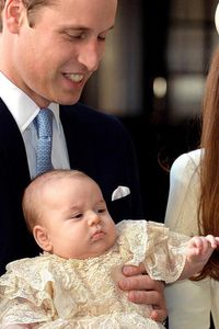 Prince William and baby George