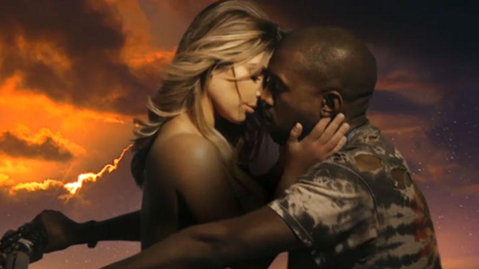 Kim Kardashian, semidesnuda en el último videoclip de Kanye West