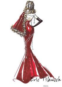 La robe de soirée signée Eric Tibusch pour Miss France 2014