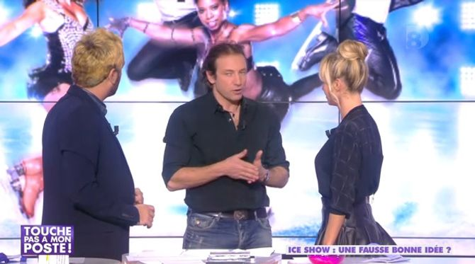 Philippe Candeloro et Enora Malagré