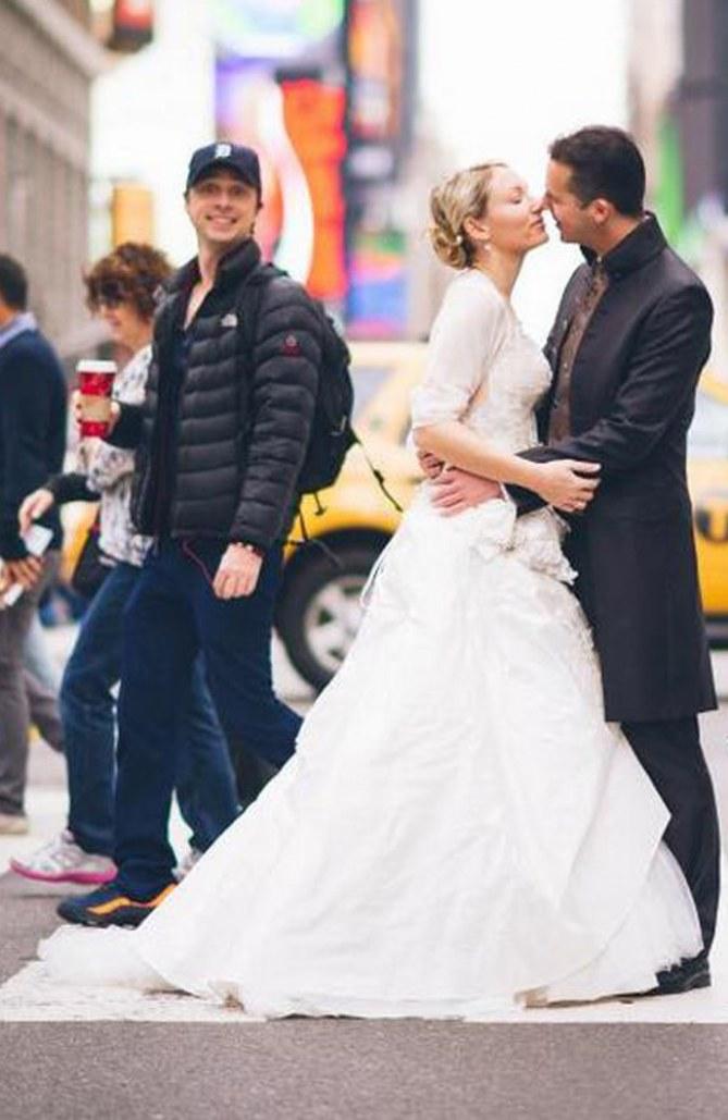 Zach Braff crasht Hochzeitsfoto