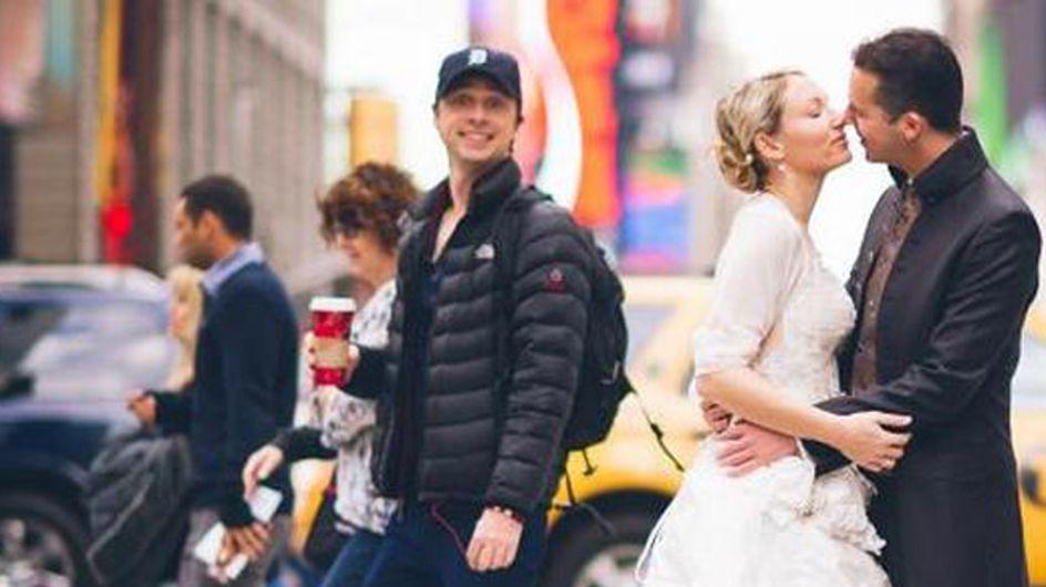 Ups! 'Scrubs'-Star Zach Braff crasht Hochzeitsfoto!