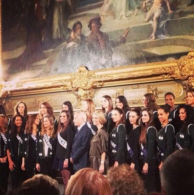 Sylvie Tellier et les 33 prétendantes à Dijon