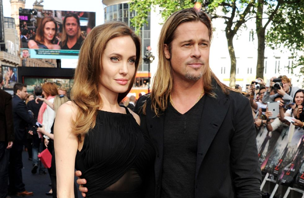 Angelina Jolie has apparently bought Brad Pitt a heart-shaped island