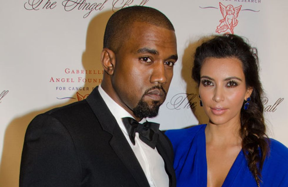 """Kanye West describes him and Kim Kardashian as """"a love story for the ages"""""""