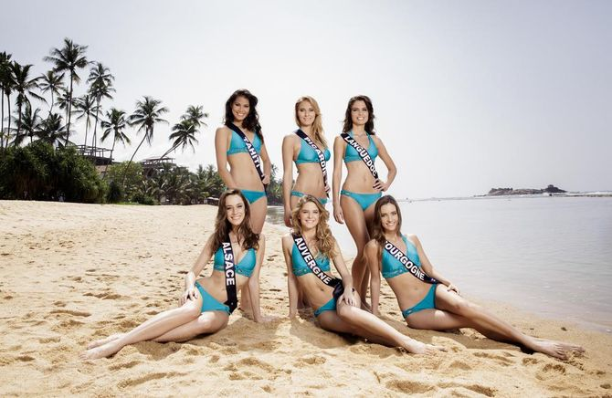 Séance photos en maillot pour les Miss