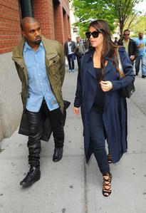 Kanye West et Kim Kardashian à NYC en mai 2013