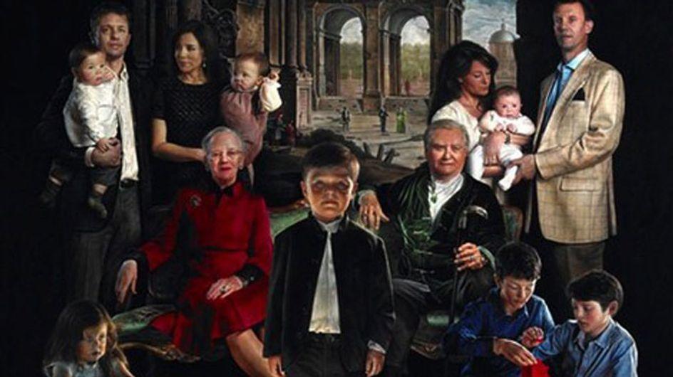El aterrador posado de la familia real danesa