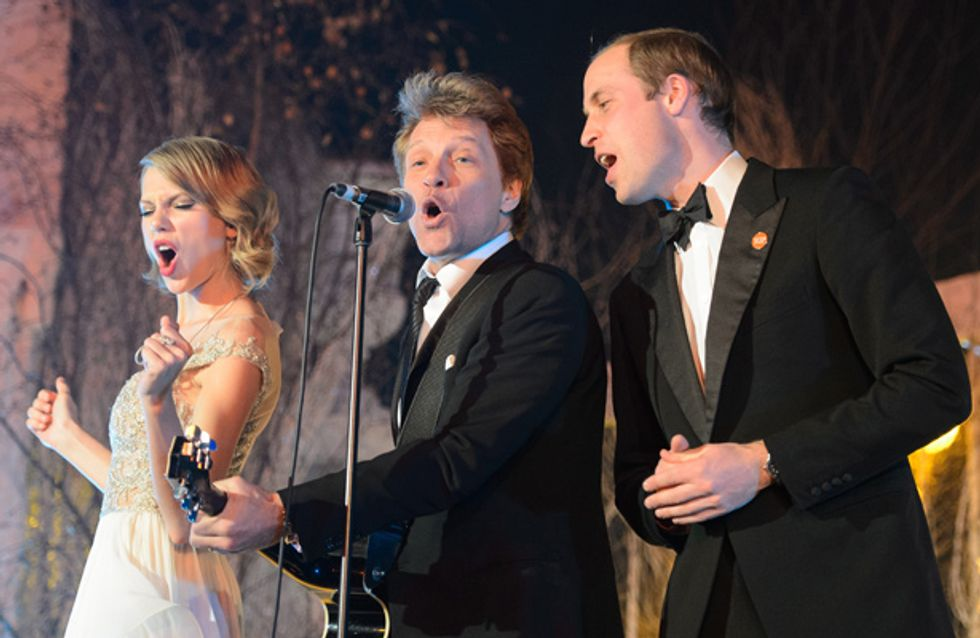 WATCH: Prince William, Taylor Swift and Jon Bon Jovi perform Livin' On A Prayer