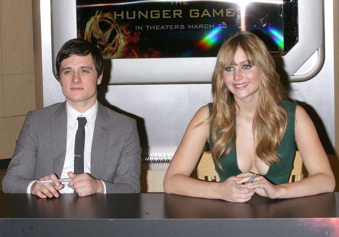 Josh Hutcherson et Jennifer Lawrence
