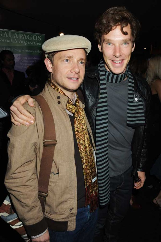 Martin Freeman and Benedict Cumberbatch