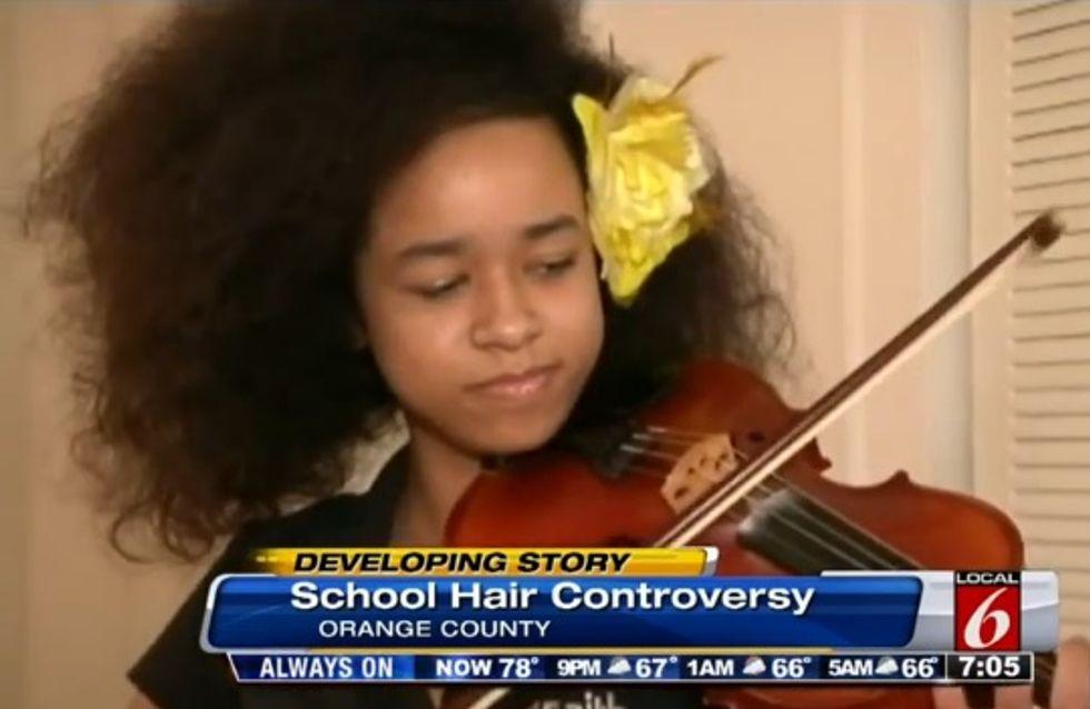 Vanessa Van Dyke, 12 ans, menacée d'expulsion à cause de sa coupe afro