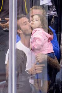 David and Harper Beckham