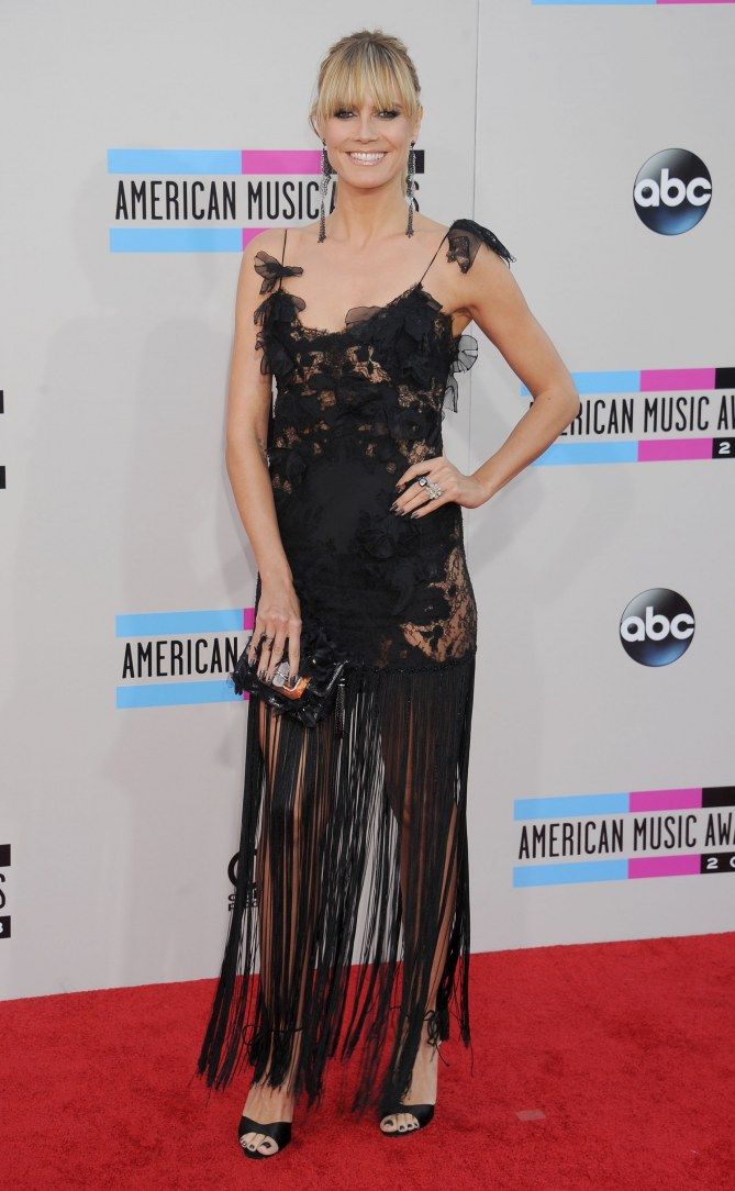 Heidi Klum aux American Music Awards 2013