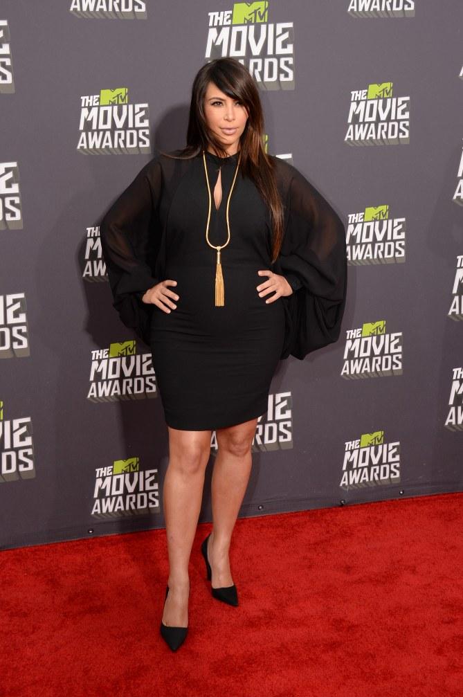 Kim Kardashian aux Mtv Movie Awards en février 2013