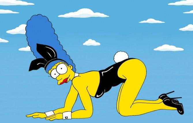 Marge Simpon en Kate Moss