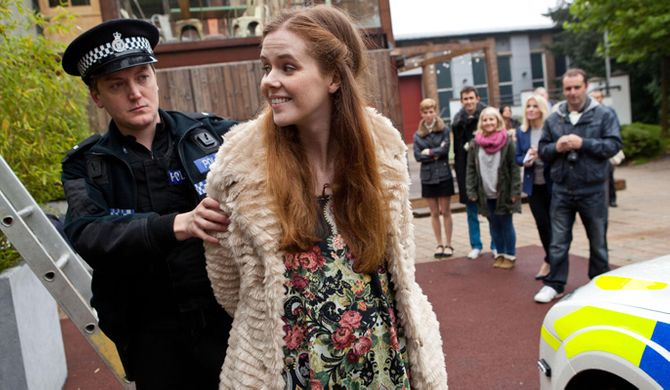 Chloe is arrested after her successful protest