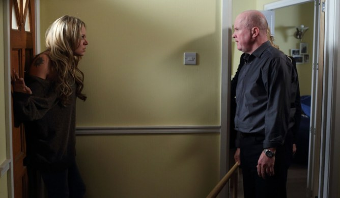 Roxy tells Phil not to hurt Alfie