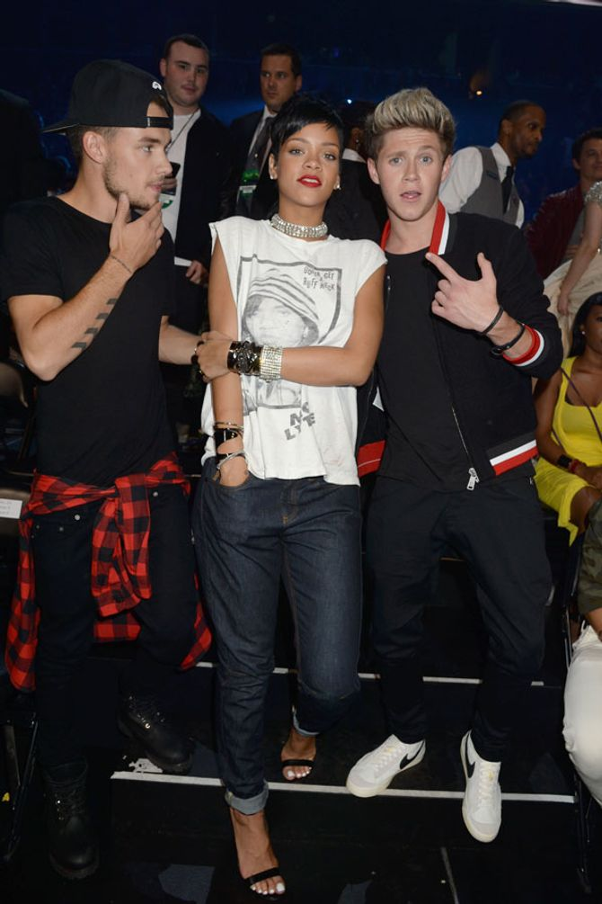 Liam Payne, Rihanna and Niall Horan