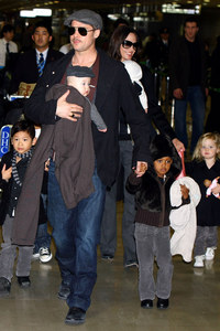 Brad Pitt, Angelina Jolie and their kids