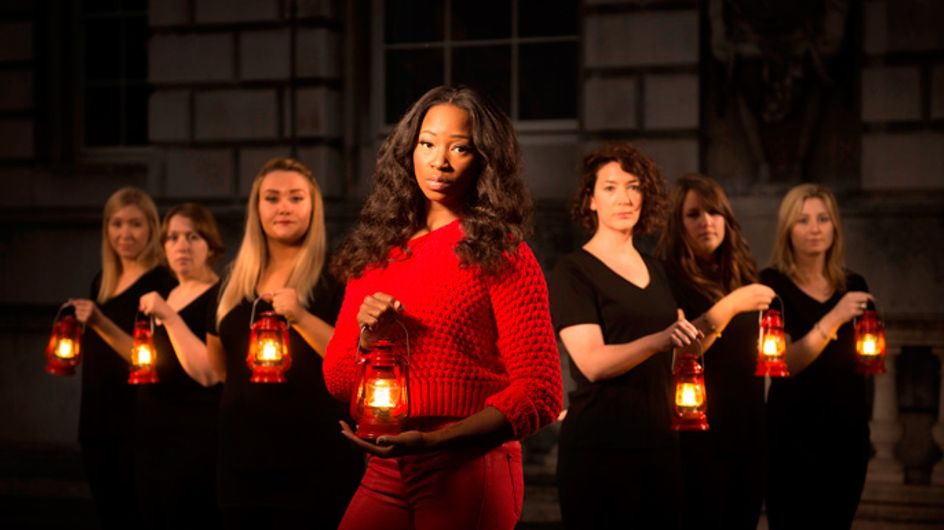 Jamelia is the face of Avon UK's 'Shine Light and Speak Out' against domestic violence campaign