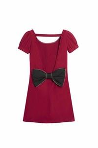 La robe rouge noeud de dos signée Les Petites Chaudières x La Halle, 39 euros