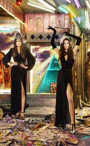Kylie et Kendall Jenner carte de Noël 2013