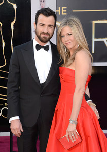 Jennifer Aniston et Justin Theroux aux Oscars 2013