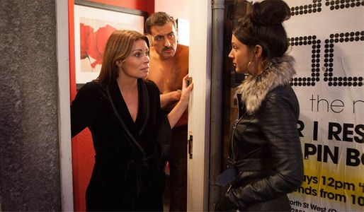 Tina goes to Peter's flat to confront him, and is greeted by Carla