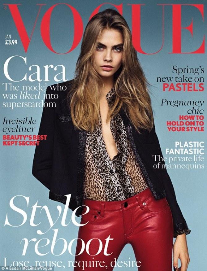 Cara Delevingne : Rock et sexy pour Vogue UK