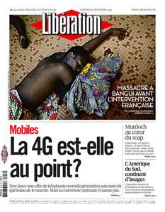 Une du journal Libération