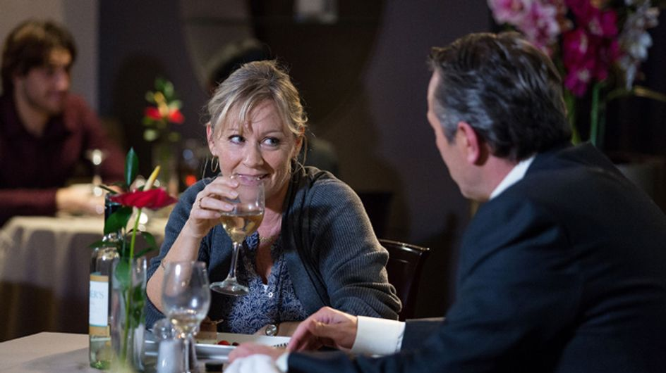 EastEnders 17/12 – Carol and David have a flirty meal together