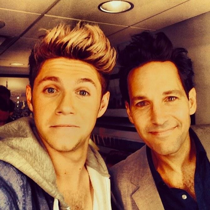 Niall Horan and Paul Rudd