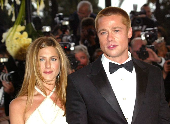 Jennifer Aniston et Brad Pitt en 2004