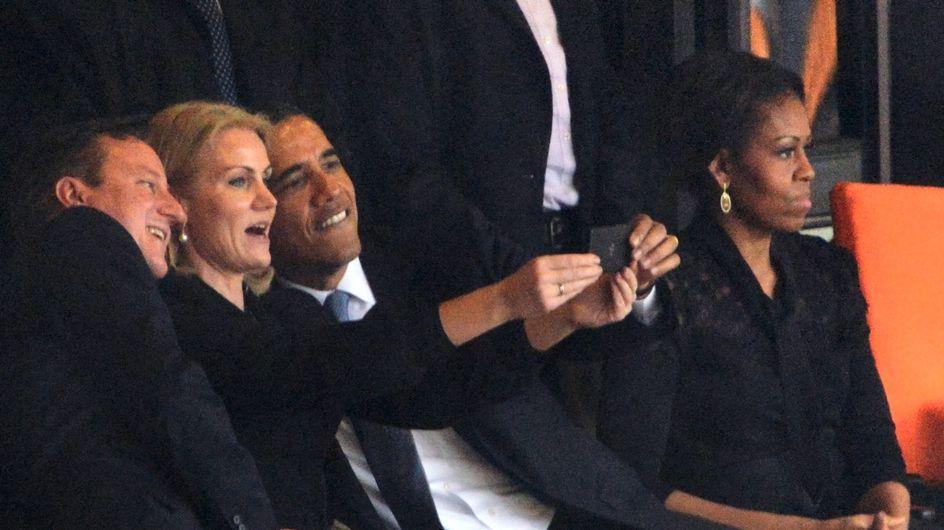 Skandal: Barack Obama schießt lustige 'Selfies' auf Trauerfeier