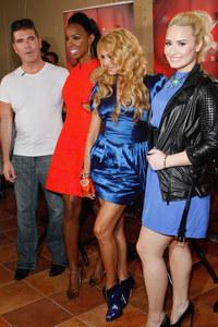 Simon Cowell, Kelly Rowland, Paulina Rubio and Demi Lovato