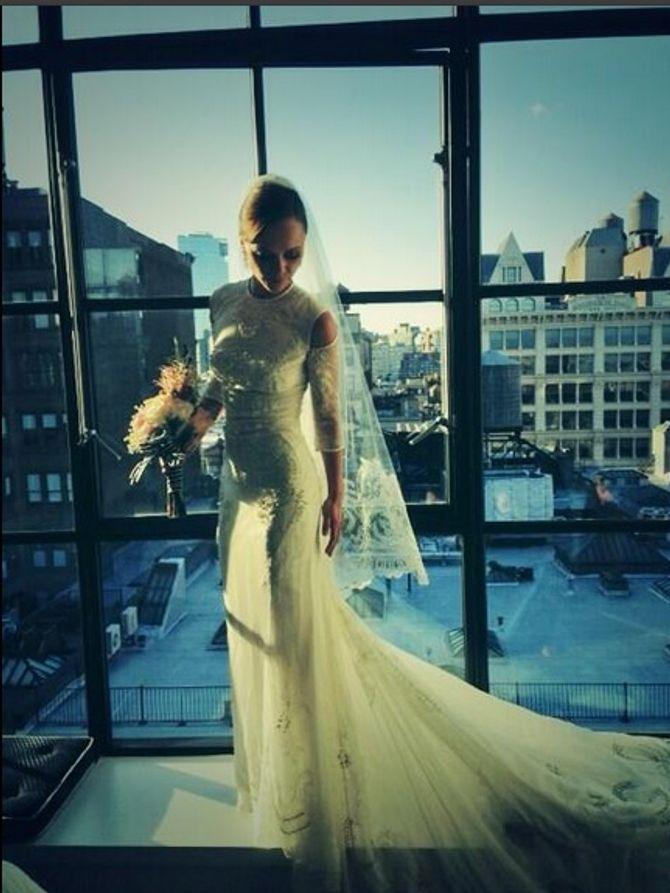 Christina Ricci en robe de mariée