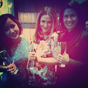 Drew Barrymore aux WWD Beauty Inc Awards