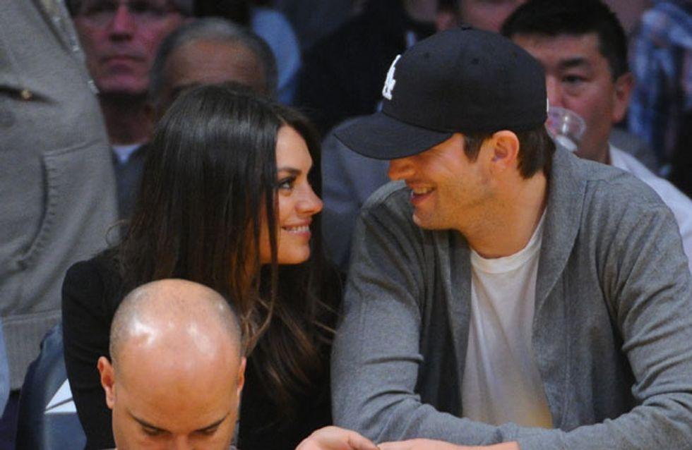 Ashton Kutcher tweets romantic snap with Mila Kunis