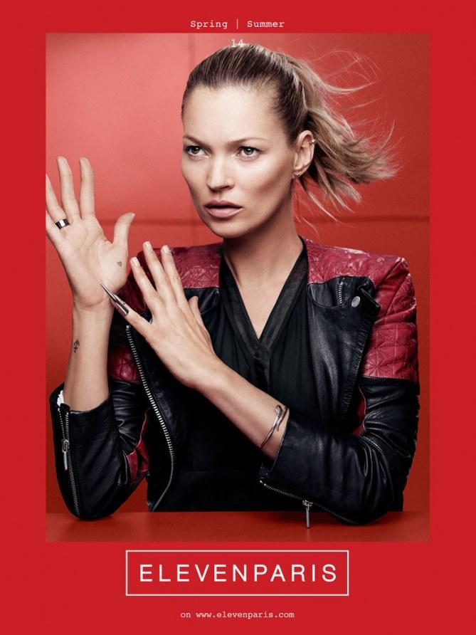 Kate Moss, égérie rebelle pour Eleven Paris